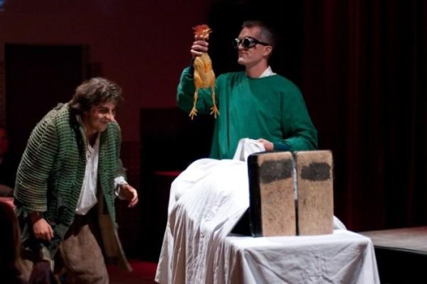 Dr. Frankenstein bei seinem größten Expermiment